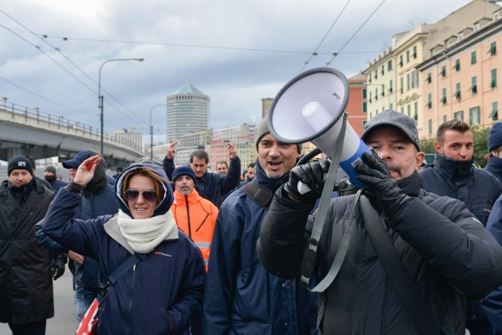 Proteste dei tranvieri genovesi