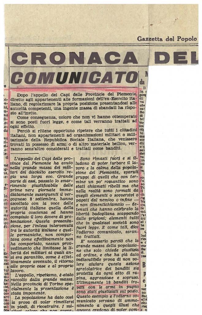 Gazzetta del Popolo 12.12.43