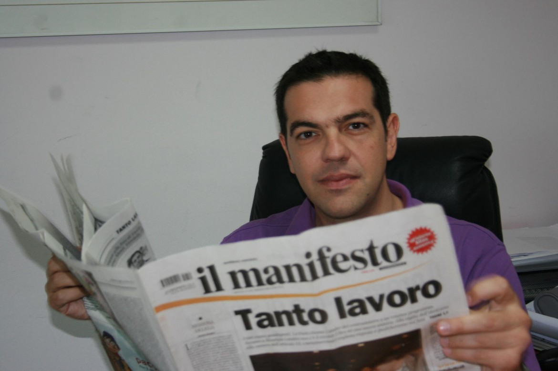 Alexis Tsipras per il manifesto
