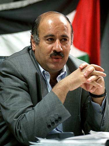 Il presidente della federazione calcio palestinese Jibril Rajoub
