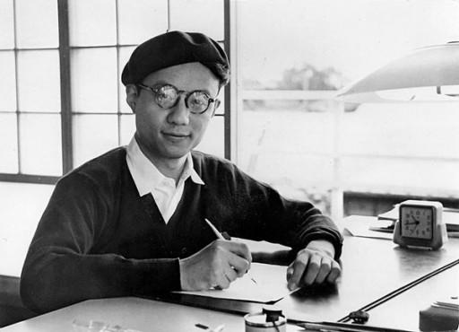 """Osamushi"" al tavolo da disegno, circa 1960 © Tezuka Productions"