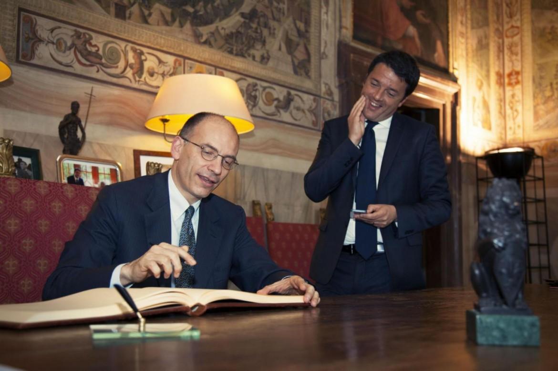 Enrico Letta e Matteo Renzi, a gennaio 2014