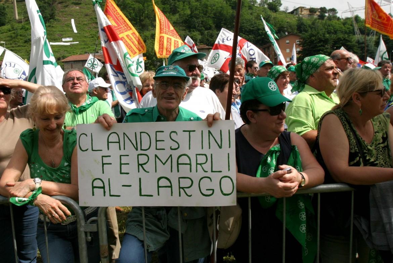 Manifestazione della Lega