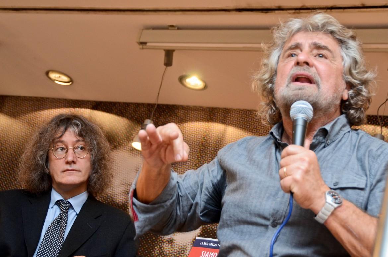 Gianroberto Casaleggio e Beppe Grillo