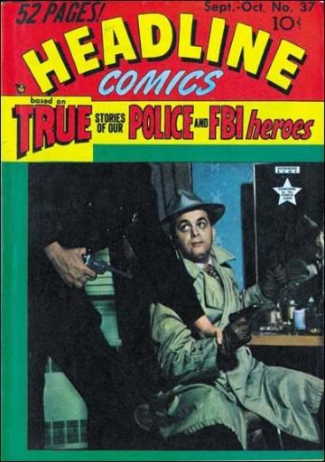 """Un Jack Kirby in versione gangster sulla copertina di """"Headline Comics"""", settembre 1949"""