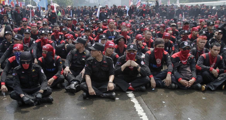Protesta dei lavoratori in Indonesia
