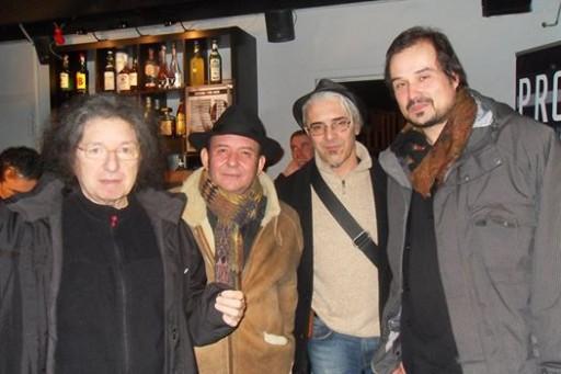 La BAND. Luigi Tempera, ALberto Radius, Marko Barbieri e Roberto Guietti (foto di L.Tempera)