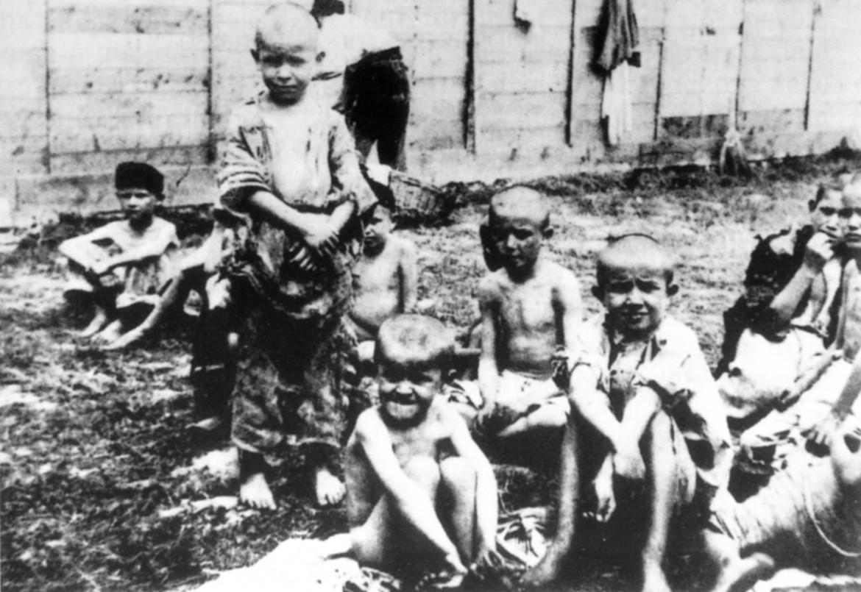 Bambini yugoslavi nel campo di concentramento di Arbe