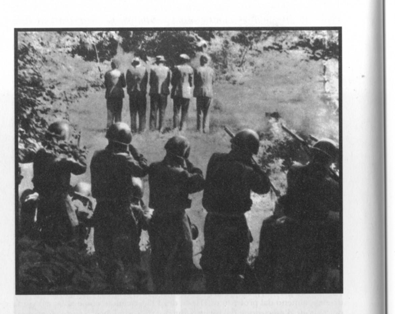 31 luglio 1942 soldati italiani fucilano cinque abitanti del villaggio di Dane in Slovenia foto Museo storico di Lubiana