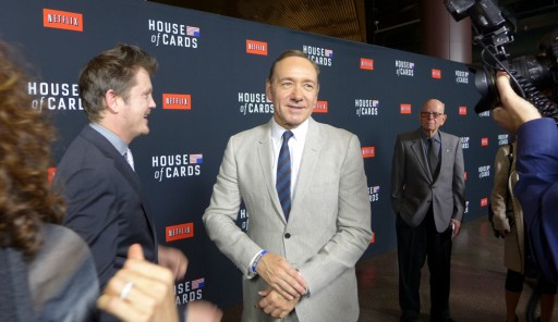 Kevin Spacey e Beau Willimon all'anteprima di House of Cards