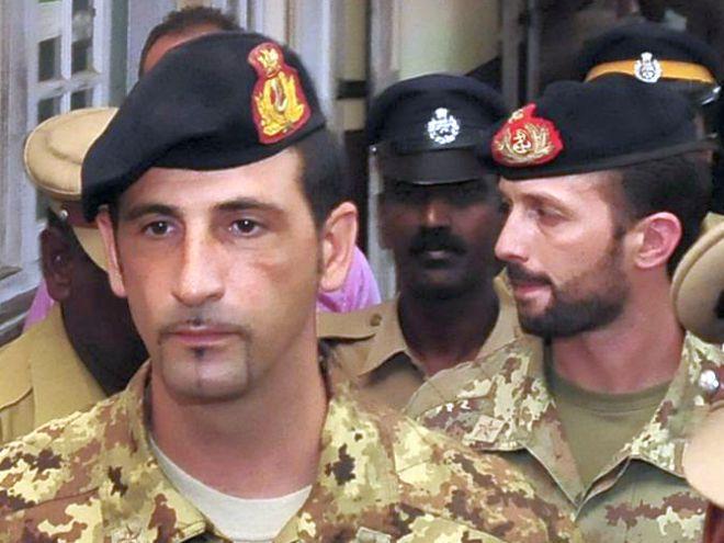 I due fucilieri di marina italiani Latorre e Girone