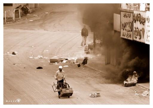 "La strada deserta - Palestina, oggi. Foto di Daniele ""Macaco"""
