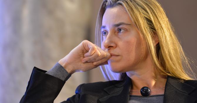 La ministra Federica Mogherini