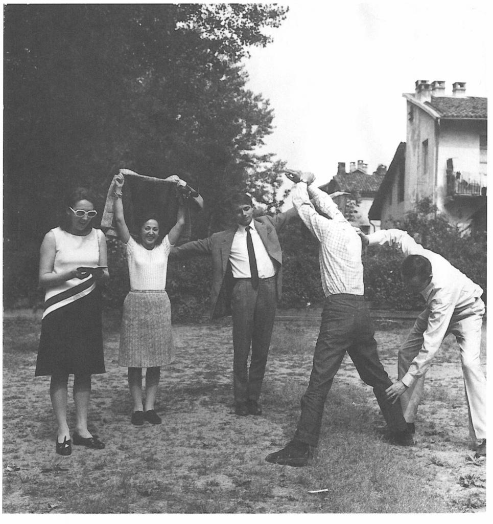 Carla Lonzi, Carla Accardi, Luciano Fabro, Luciano Pistoi e Giulio Paolini, 1965