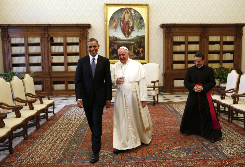 Papa Francesco e Obama in Vaticano