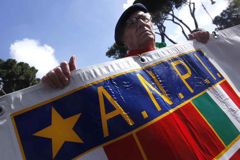 I partigiani dell'Anpi, il 25 aprile a Roma