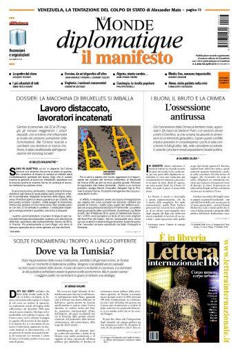 Le Monde Diplomatique del 15 aprile 2014