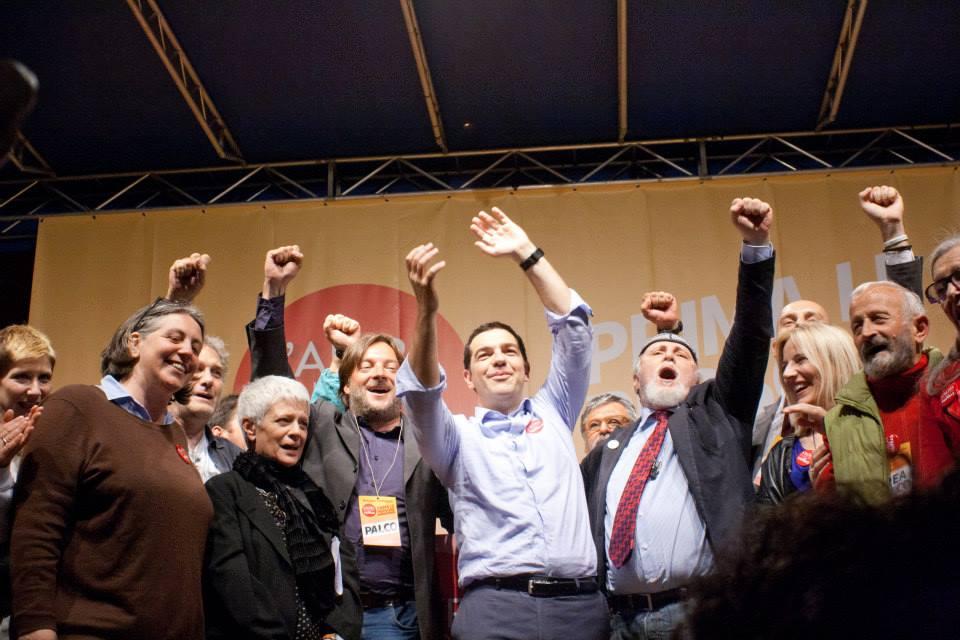 L'Altra Europa con Tsipras all'ultimo comizio di Bologna