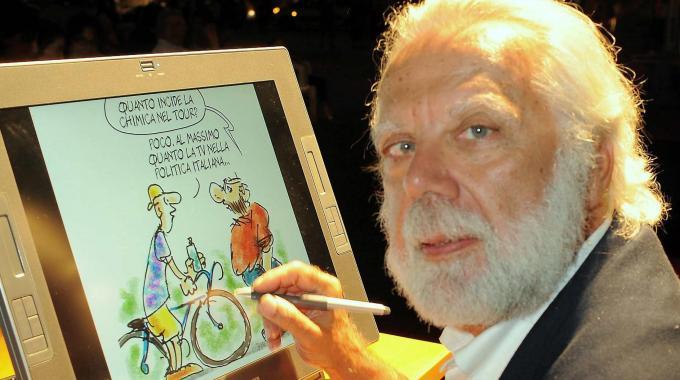 Il vignettista Sergio Staino, padre di Bobo