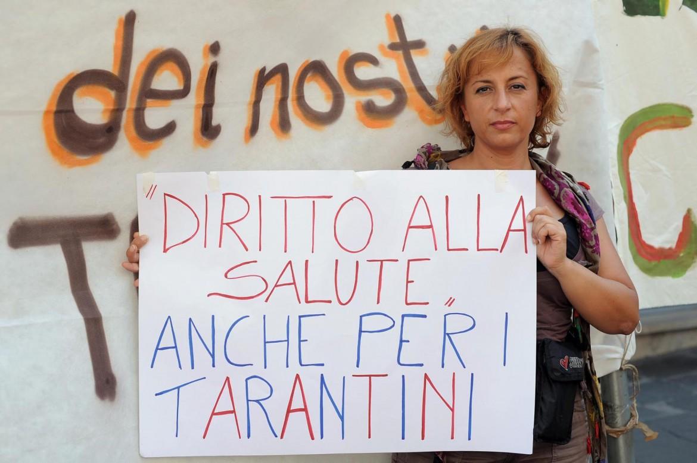 Protesta dei cittadini di Taranto