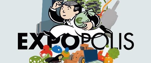 Immagine di copertina del libro «Expopolis» (Agenzia X) scritto dal giornalista di Radio Popolare Roberto Maggioni e dal laboratorio degli attivisti milanesi «Off Topic»