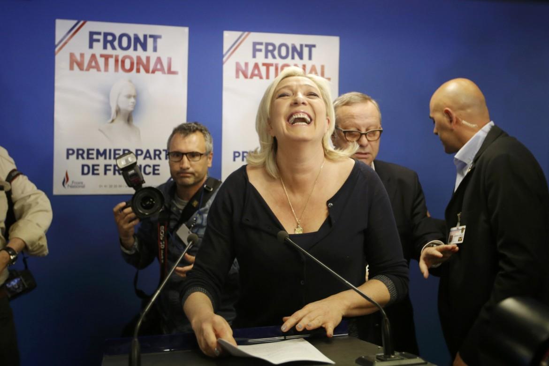 Marine Le Pen festeggia