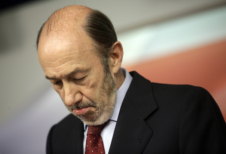 Il segretario del Psoe, Pérez Rubalcaba