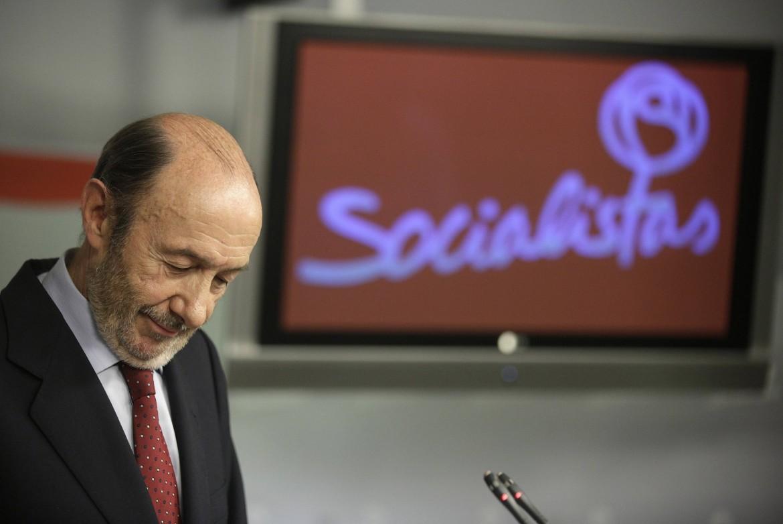 Il segretario del Psoe Alfredo Pérez Rubalcaba