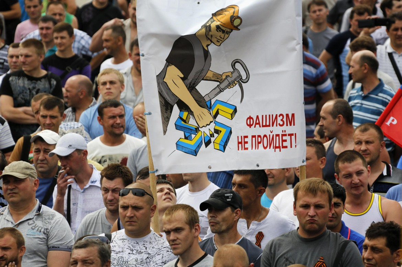 No al fascismo, a Donetsk