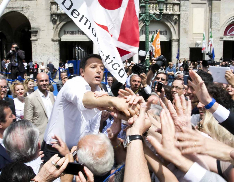 Renzi in campagna elettorale