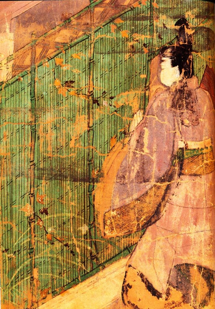 Particolare di un rotolo illustrato del periodo Heian (794-1185)