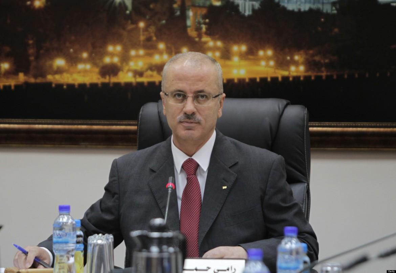 Il premier palestinese incaricato Rami Hamdallah