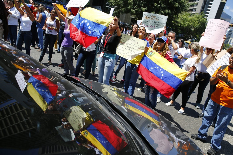 Manifestazioni di lavoratori in Venezuela