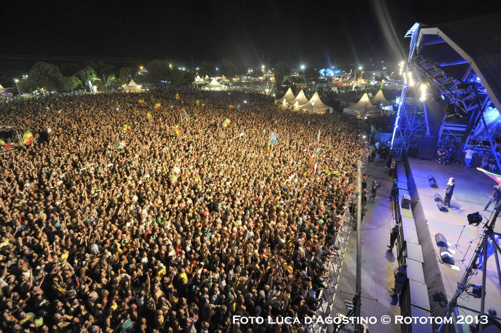 Benicassim, edizione 2013 del Rototom Sunsplash, con Damian Marley sul palco
