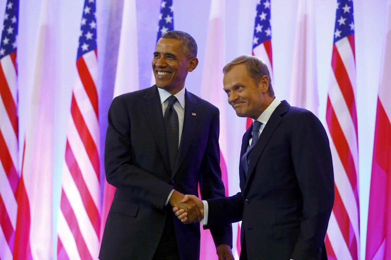 Obama e il premier polacco Tusk