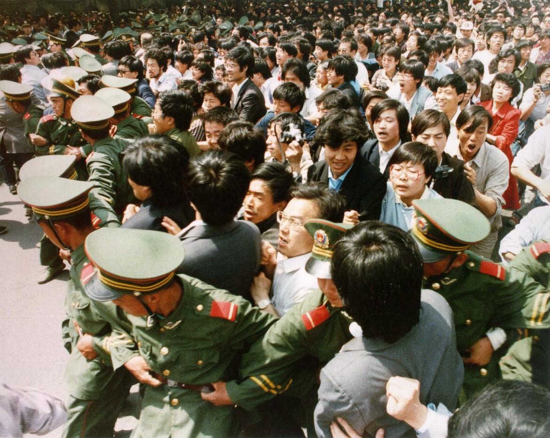 Un'immagine di Tiananmen nel 1989
