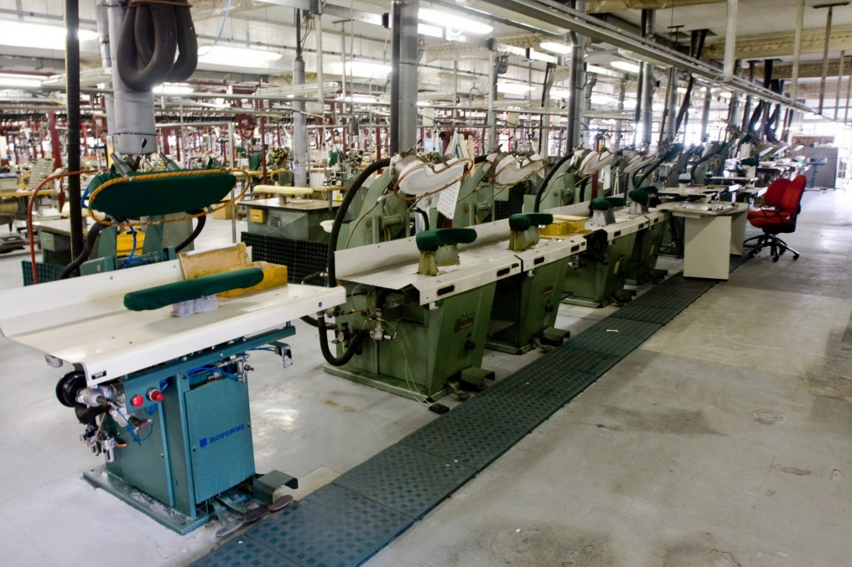 Una fabbrica tessile