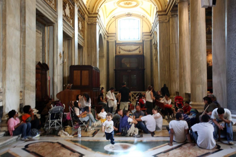 L'occupazione della Basilica di Santa Maria Maggiore a Roma