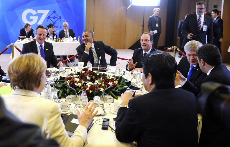Una foto dal G7 del 2014
