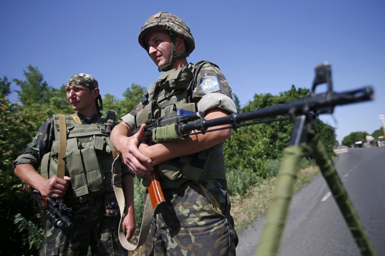 Checkpoint ucraino a Donetsk