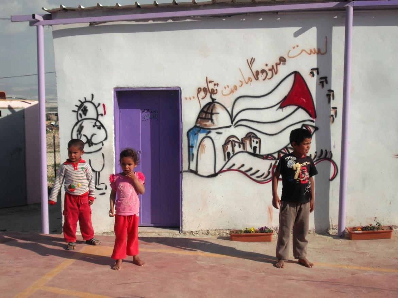 La scuola del villaggio di Fasayel, costruita nel 2007 dalla comunità palestinese