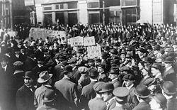 Uno sciopero ferroviario in America