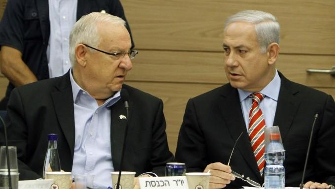 Il nuovo presidente israeliano Reuven Rivlin con il premier Netanyahu