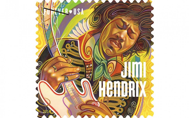 Il francobollo di Jimi Hendrix