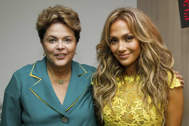 Jennifer Lopez con la presidente Dilma Rousseff
