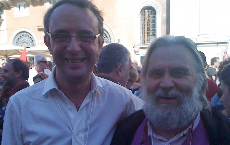 Con Roberto Morgantini