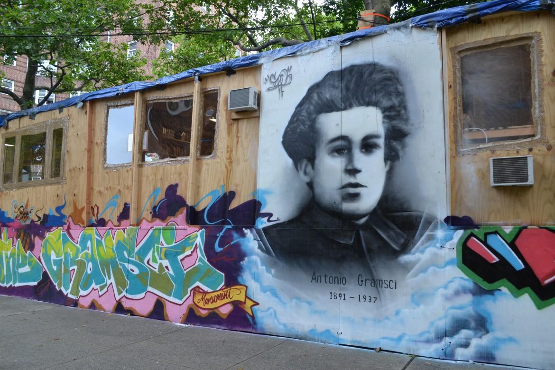 Antonio Gramsci in un graffito nel Bronx
