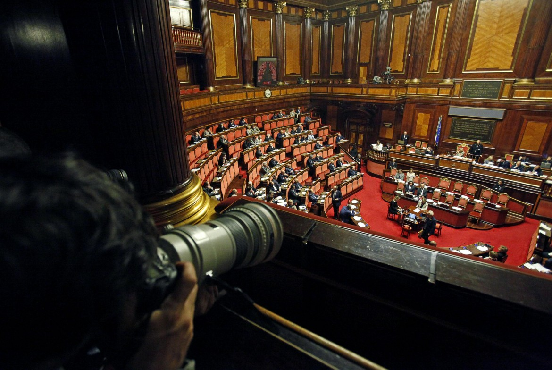 L'aula del senato della Repubblica