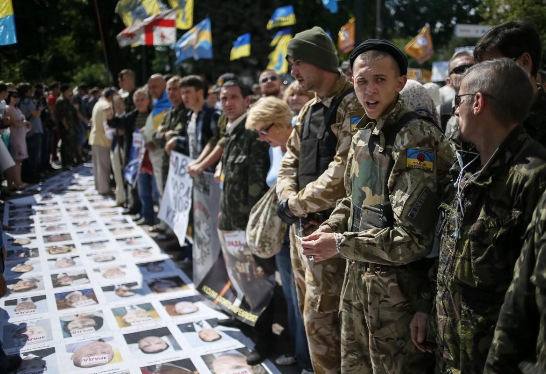 Miliziani di Settore Destro a Kiev