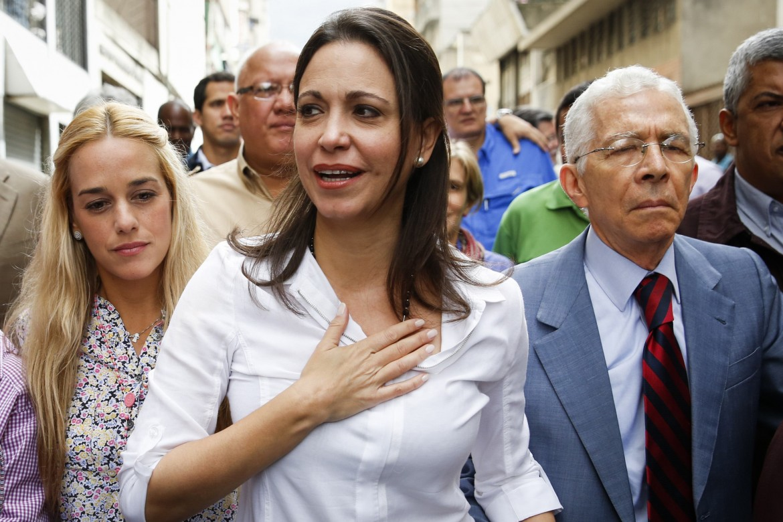 La leader di opposizione Maria Corina Machado